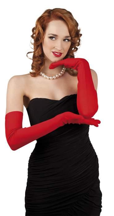 Kesztyű - hosszú, piros vagy pink-Valentin napra