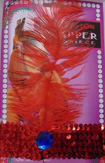 charleston fejpánt - piros