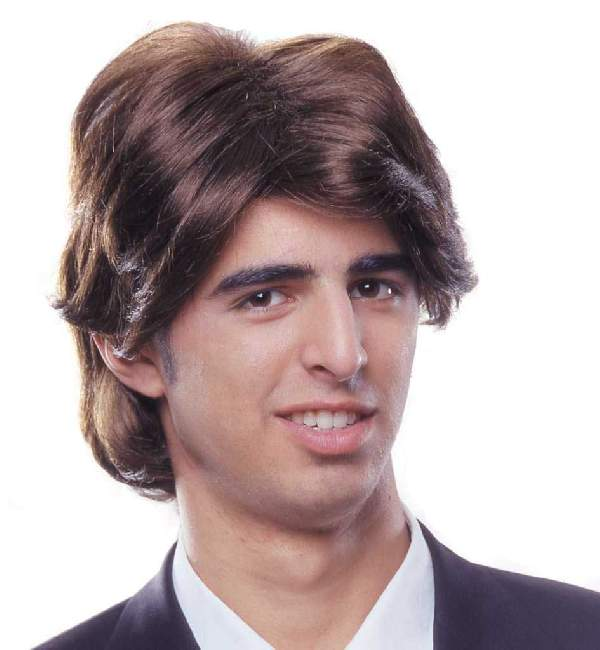 férfi, rövid barna paróka