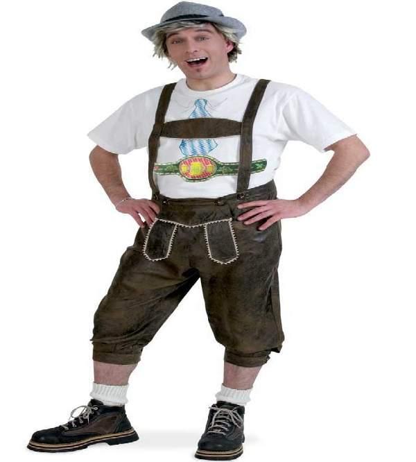 Tiroli / bajor bőr hatású nadrág