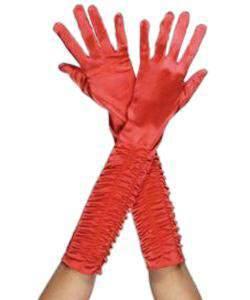 kesztyű - hosszú, jersey, piros
