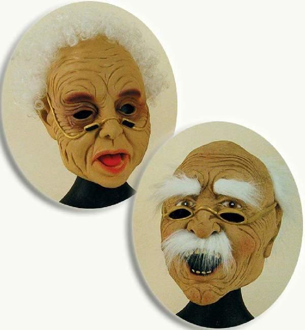 Nagyapó / bátyó/ nagypapa vagy idős-,  öregember maszk anyaga: gumi