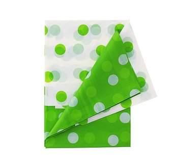 műanyag asztalterítő 132*182 cm, ,zöld pöttyös