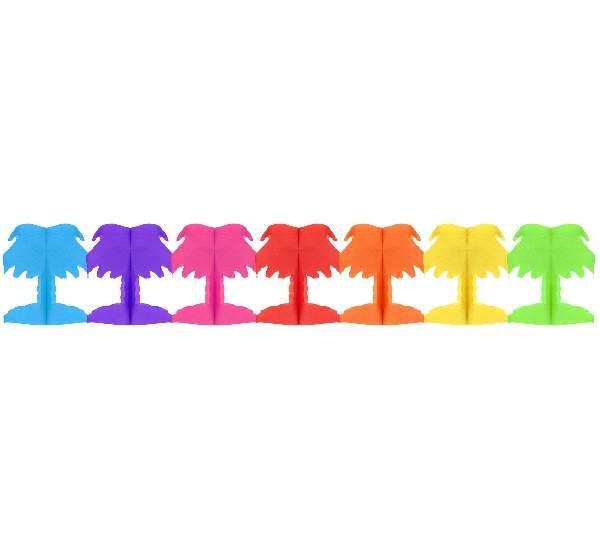 papír girland színes pálmafa (18x17x300 cm)-WM-GPTP