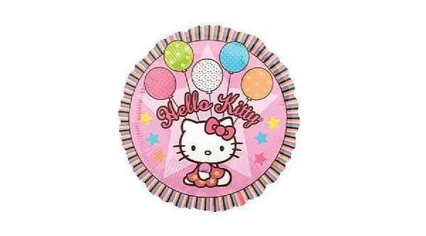 Hello Kitty, léggömbös fólia lufi (45 cm)