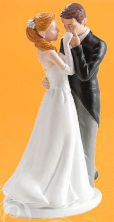kézcsókos ifjú pár (16 cm)-305039