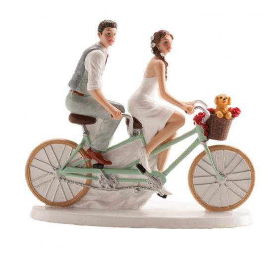 Ifjú pár tortadísz biciklis (16 cm)-305069