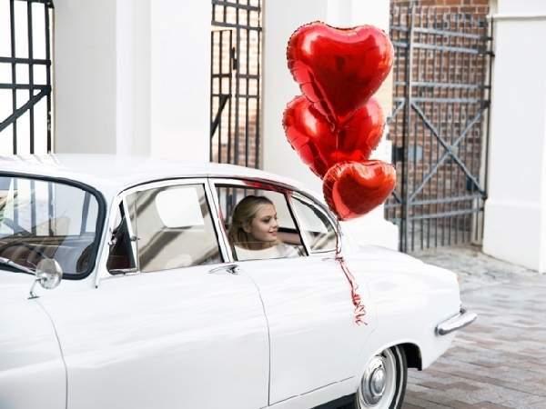 Óriás szív lufi, piros(61 cm)-Valentin napra