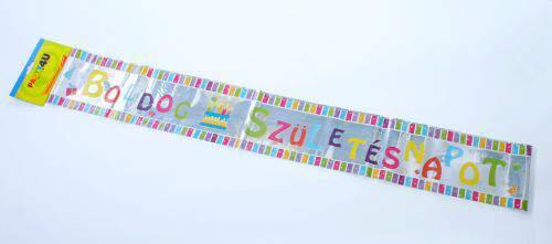 Boldog születésnapot ! fólia felirat, 3,6 m
