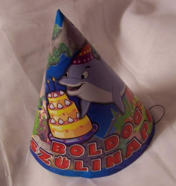 Boldog születésnapot csákó, delfines ( 6 db)