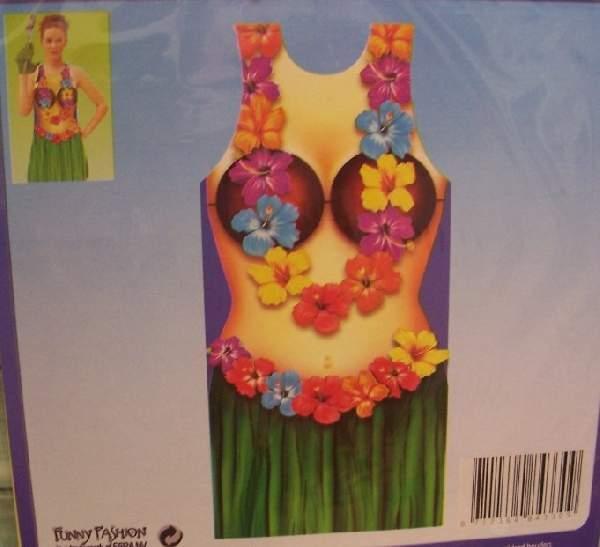 hawaii kötény műanyag (női)
