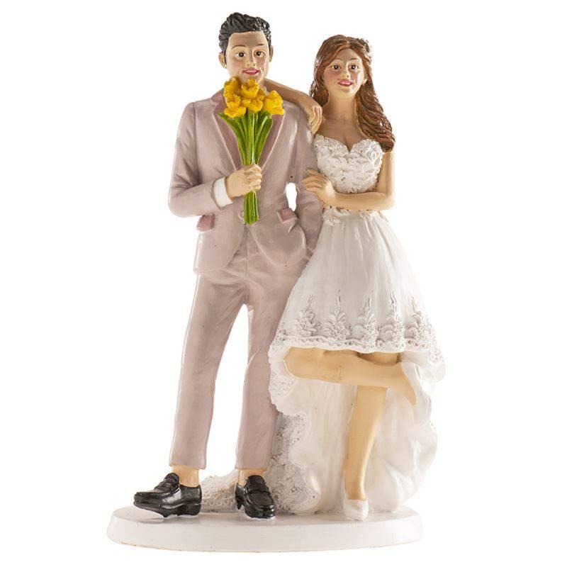 Esküvői nászpár tortadísz, 16 cm - 305096