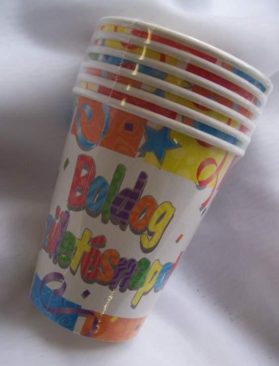 Boldog Születésnapot! pohár 6 db