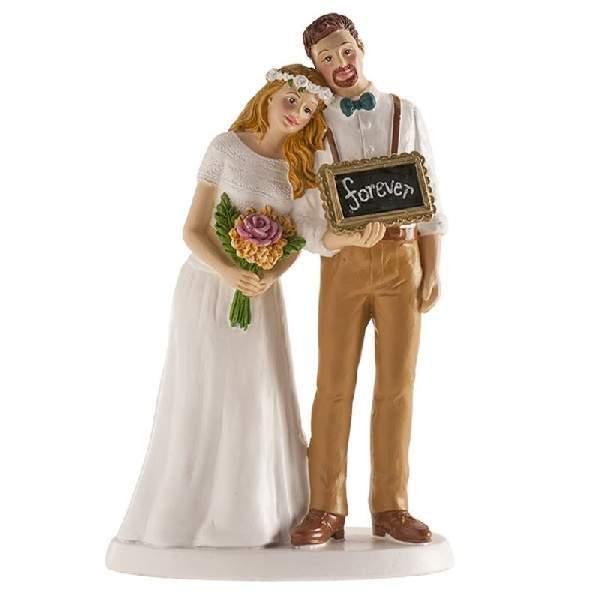 Esküvői nászpár tortadísz