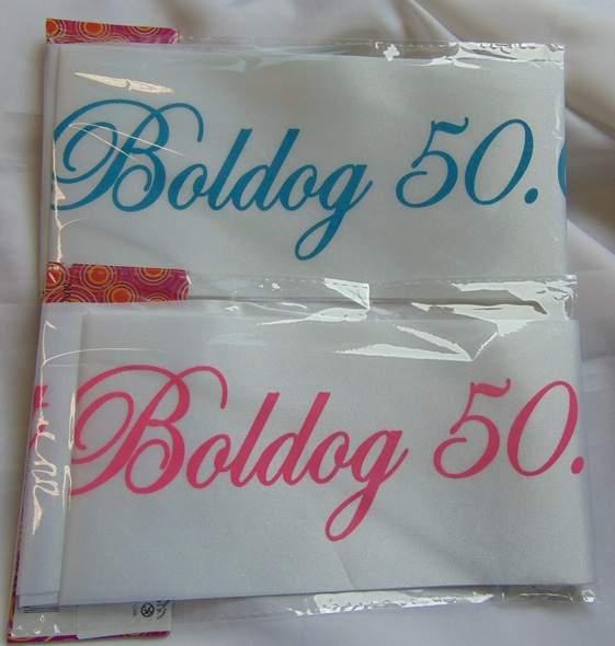 Boldog 50. születésnapot ! vállszalag (kék  )