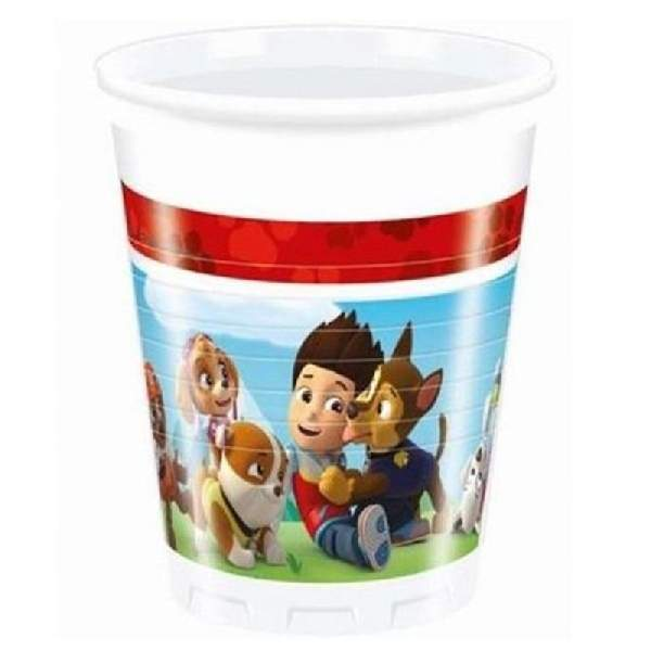 Mancs őrjárat műanyag party pohár (8 db)