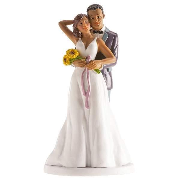 Esküvői nászpár tortadísz, 18 cm - 305093