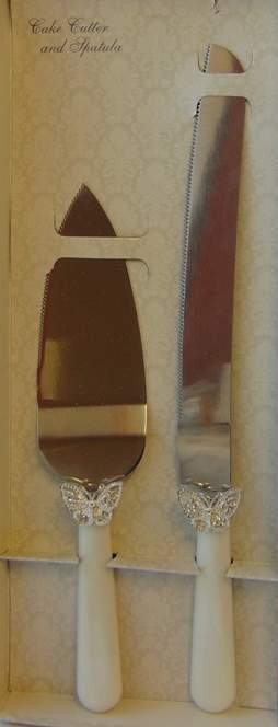tortaszett pillangóval (kés+lapát)