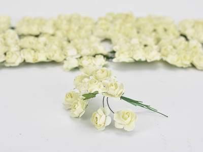 Papír rózsa krém 144db/csomag